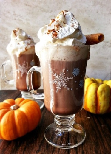 Pumpkin spiced hot chocolate